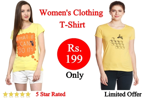Girls Casual T shirts Under Rs 199