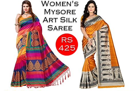 Best Mysore Silk Sarees Collections Under Rs 425