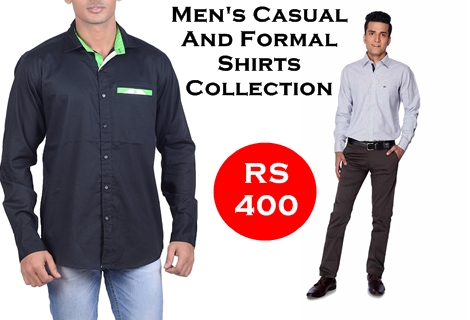 Men's Casual And Formal Shirts Collection Under Rs 400